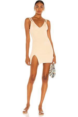 Camila Coelho Vestido yara en color nude talla L en - Nude. Talla L (también en XS, S, M, XL).