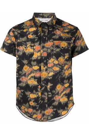 Saint Laurent Hombre Camisas - Camisa con estampado floral
