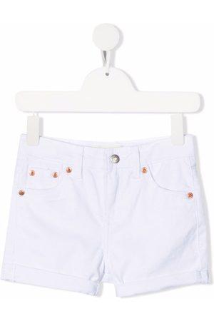 Levi's Niña De mezclilla - Shorts de mezclilla con efecto envejecido