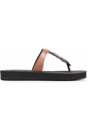 Giuseppe Zanotti Mujer Flip flops - Flip flops con detalles de cristales