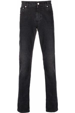 Alexander McQueen Hombre Rectos - Jeans rectos con logo bordado