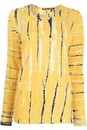 Proenza Schouler Mujer Playeras - Playera con estampado tie-dye