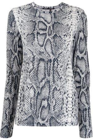 Proenza Schouler Mujer Playeras - Playera con estampado de piel de serpiente