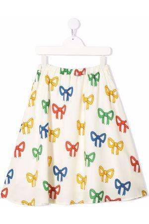 Mini Rodini Niña Faldas - Falda con lazos estampados