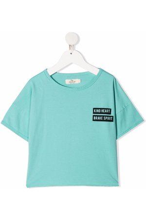 Andorine Niña Playeras - Camiseta con logo y cuello redondo