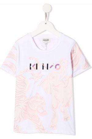Kenzo Niña Playeras - Camiseta con motivo de tigre
