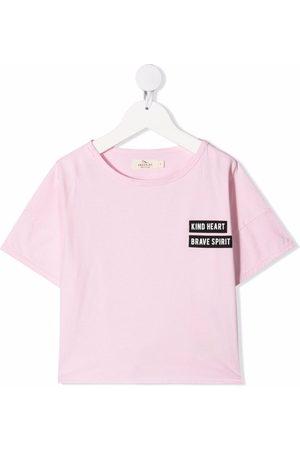 Le pandorine Niña Playeras - Camiseta con logo y cuello redondo