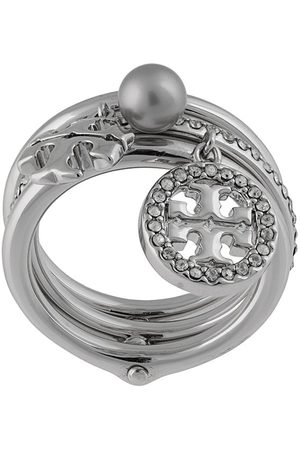 Tory Burch Mujer Anillos - MILLER PAVE CHARM RING