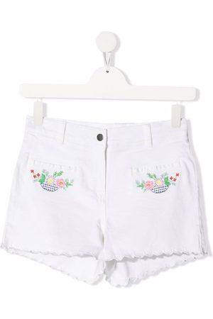 Stella McCartney Niña De mezclilla - Pantalones vaqueros cortos con bordado floral