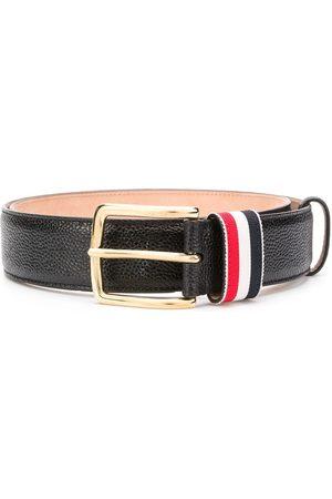 Thom Browne Hombre Cinturones - Cinturón a rayas con motivo granulado