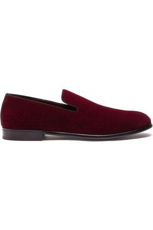Dolce & Gabbana Hombre Tenis - Velvet-effect slippers