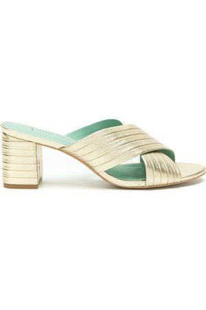 Blue Bird Shoes Mules con tiras cruzadas