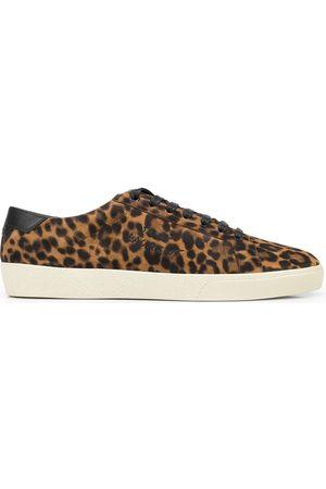 Saint Laurent Hombre Tenis - SL06 Court Classic leopard sneakers