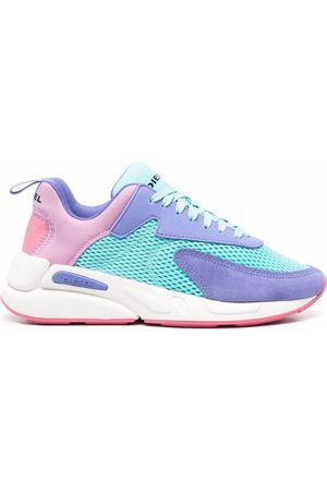 Diesel Mujer Tenis - Colour-block lace-up trainers
