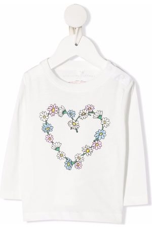Stella McCartney Niña Con capucha - Floral heart cotton sweatshirt