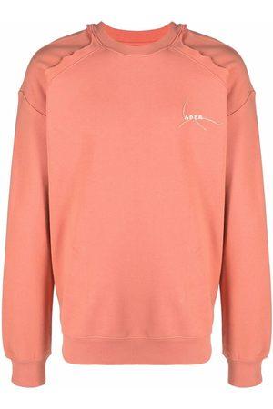 Ader Error Hombre Sudaderas - Kaput embroidered logo cotton sweatshirt
