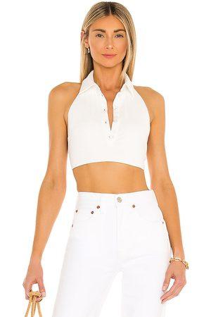 Camila Coelho Camiseta tirantes corta briella en color talla L en - . Talla L (también en XS, S, M, XL).