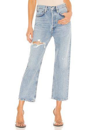 AGOLDE Jean pierna recta 90s en color azul talla 23 en - Blue. Talla 23 (también en 24, 25, 26, 27, 28, 29, 30, 31, 32).