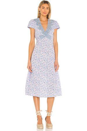 LOVESHACKFANCY Vestido minuet en color lavanda talla 0 en - Lavender. Talla 0 (también en 2, 4, 6, 8, 10).