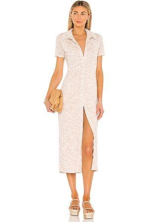 Lovers + Friends Mujer Midi - Vestido midi kayce en color neutral talla L en - Neutral. Talla L (también en XXS, XS, S, M, XL).
