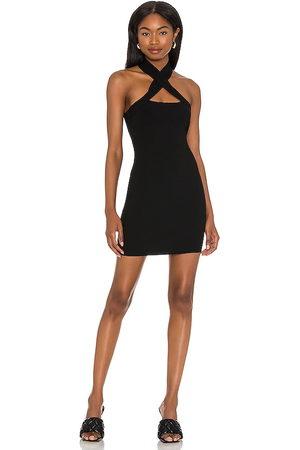NBD Vestido halter yvette en color talla L en - Black. Talla L (también en XS, S, M).