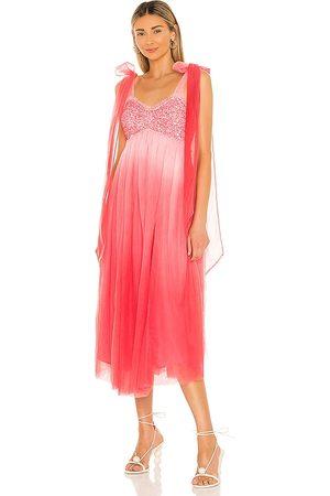 LOVESHACKFANCY Vestido romia en color rosado talla 0 en - Pink. Talla 0 (también en 2, 4, 6, 8).