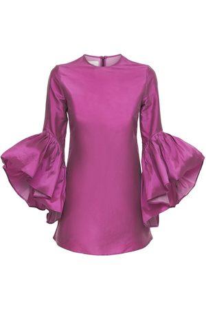 MARQUES'ALMEIDA Mujer Cortos - Vestido Mini De Tafetán Reciclado