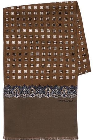 Saint Laurent Cube Silk Scarf