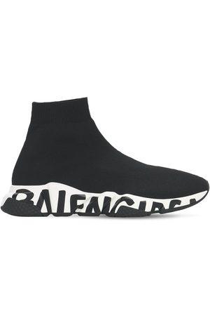 "Balenciaga Mujer Tenis - Sneakers ""speed Graffiti"" De Punto 30mm"