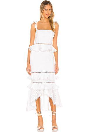 NBD Vestido midi haze en color blanco talla M en - White. Talla M (también en XL).