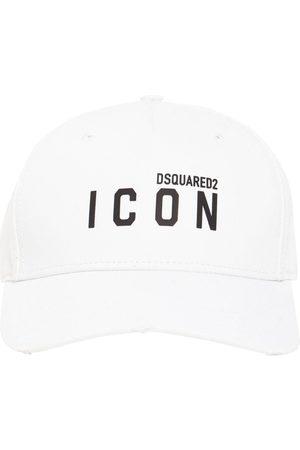 """Dsquared2 Hombre Gorras - Gorra """"icon"""" De Gabardina De Algodón"""