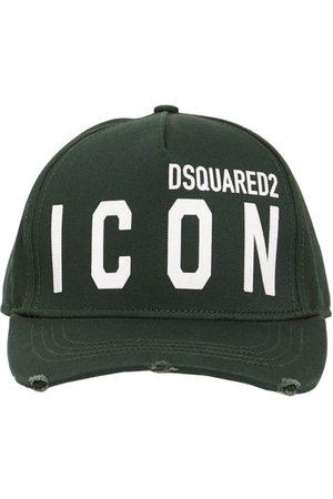 """DSQUARED2 Gorra """"icon"""" De Gabardina De Algodón"""