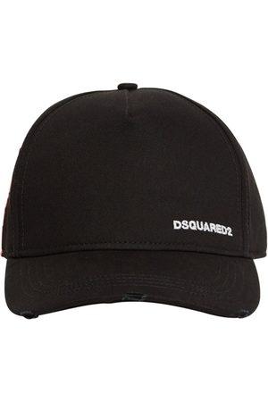 Dsquared2 Hombre Gorras - Gorra De Gabardina De Algodón Con Logo