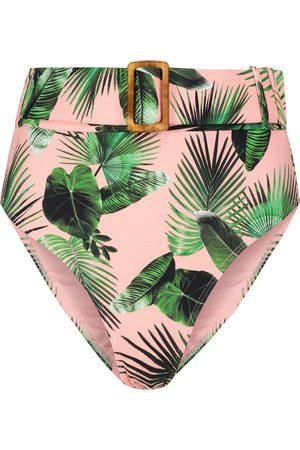 ALEXANDRA MIRO Exclusive to Mytheresa – Ursula palm-print bikini bottoms