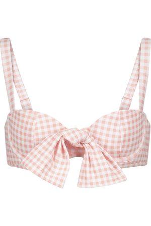 ALEXANDRA MIRO Exclusive to Mytheresa – Clara gingham bikini top