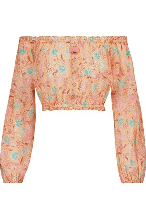 POUPETTE ST BARTH Exclusive to Mytheresa – Rachel printed cotton crop top