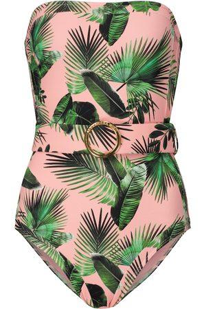 ALEXANDRA MIRO Exclusive to Mytheresa – Whitney palm-print swimsuit