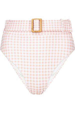 ALEXANDRA MIRO Exclusive to Mytheresa – Ursula gingham bikini bottoms