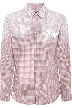 Dsquared2 Hombre Camisas - Camisa De Algodón A Cuadros Con Logo