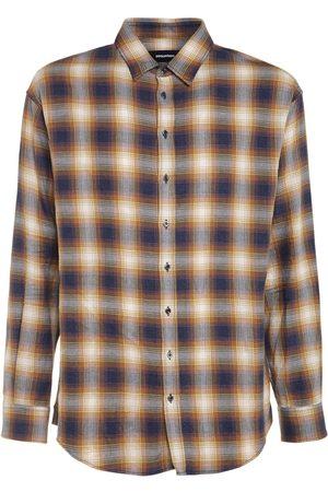 Dsquared2 Hombre Camisas - Camisa De Algodón A Cuadros