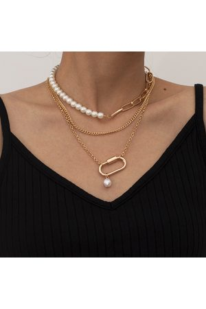 YOINS Mujer Collares - 3pcs Faux Pearl Chain Design Necklaces
