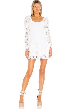 LOVESHACKFANCY Vestido cedria en color blanco talla L en - White. Talla L (también en S, XS, M, XL).