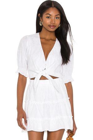 Show Me Your Mumu Kimmy tie top en color blanco talla L en - White. Talla L (también en S, XS, M).