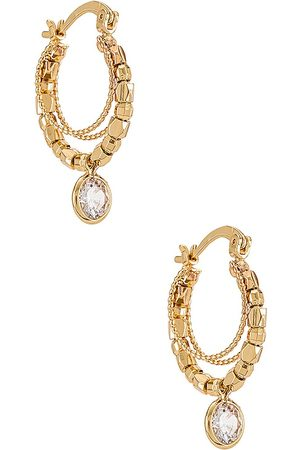 Ettika Pendientes de aro en color oro metálico talla all en - Metallic Gold. Talla all.