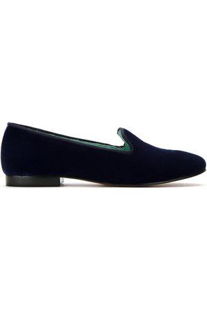 Blue Bird Shoes Velvet I Do loafers