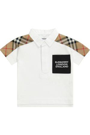 Burberry Baby Vintage Check cotton piqué polo shirt
