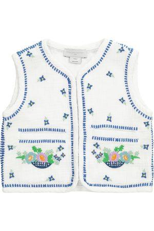 Stella McCartney Embroidered floral organic cotton vest