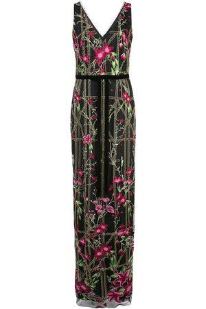 Marchesa Notte Mujer Vestidos de noche - Vestido largo con bordado con mostacillas