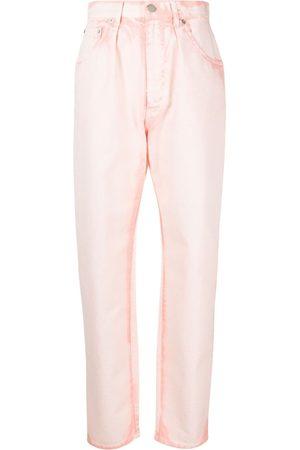 Alberta Ferretti Jeans tapered con efecto descolorido