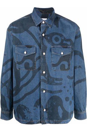 Kenzo Hombre De mezclilla - Camisa de mezclilla con estampado gráfico